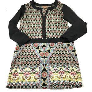 Anthropologie Kachel floral long sleeve dress 2P